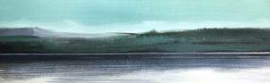 Bieszczady-San, akryl na płótnie,20x60 cm